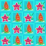 Cartoon starfishes Stock Image