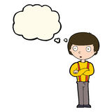 Cartoon staring boy with thought bubble Royalty Free Stock Photos