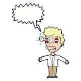 Cartoon staring man with speech bubble Stock Photos