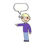 Cartoon staring man with speech bubble Royalty Free Stock Photo