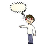 Cartoon staring man with speech bubble Royalty Free Stock Images