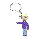 Cartoon staring man with thought bubble Royalty Free Stock Photography