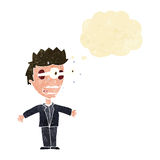 Cartoon staring man with thought bubble Royalty Free Stock Images