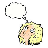 Cartoon staring woman with thought bubble Royalty Free Stock Images