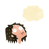Cartoon staring woman with thought bubble Stock Photography