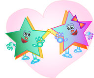 Cartoon stars Royalty Free Stock Images