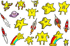 Cartoon Stars Collection Royalty Free Stock Images