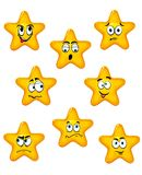 Cartoon stars with different emotions Stock Images