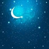 Cartoon stars in the night sky. Vector EPS10. Royalty Free Stock Photo