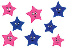Cartoon stars Stock Photo
