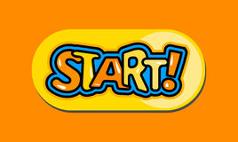 Cartoon start button Royalty Free Stock Photography