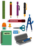 Cartoon Stationery icon Stock Images