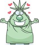 Cartoon Statue of Liberty Hug Royalty Free Stock Photos