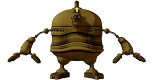 Cartoon Steam Punk Robot Royalty Free Stock Photos