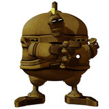 Cartoon Steam Punk Robot Evil Stock Images