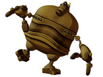 Cartoon Steam Punk Robot Off Balance Stock Photo