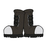 Cartoon steel toe cap boots Royalty Free Stock Photo