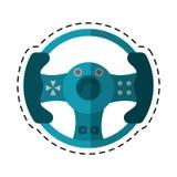 Cartoon steering wheel video game. Vector illustration eps 10 Stock Photos