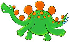 Cartoon Stegosaurus. Royalty Free Stock Photo
