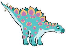 Cartoon stegosaurus Royalty Free Stock Images