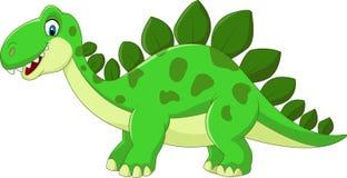 Cartoon Stegosaurus Dinosaur. Illustration of Cartoon Stegosaurus Dinosaur Royalty Free Stock Photo