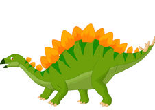 Cartoon stegosaurus Stock Photography