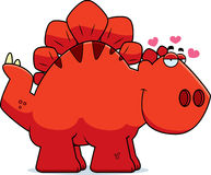 Cartoon Stegosaurus in Love Stock Photography