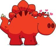 Cartoon Stegosaurus in Love Stock Photography