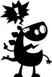 Cartoon Stegosaurus Silhouette Talking Royalty Free Stock Photo