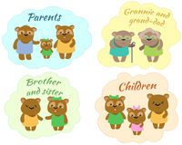 Set stickers FAMILY of Tonny`s friend stock photography