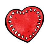 Cartoon stitched heart Stock Images