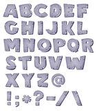 Cartoon Stone Alphabet Royalty Free Stock Images