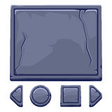Cartoon stone assets and buttons For Ui Game Royalty Free Stock Image