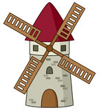 Cartoon Stone Windmill Icon Royalty Free Stock Images