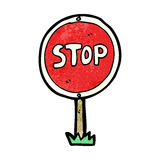 cartoon stop symbol Stock Images