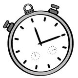 Cartoon stopwatch Royalty Free Stock Images