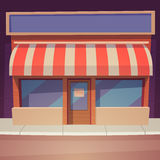 Cartoon Store. Front view of the store, cartoon vector illustration Stock Photography