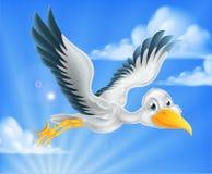 Cartoon stork bird animal character Stock Photography