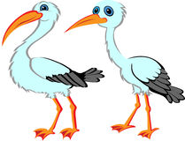 Cartoon Stork Royalty Free Stock Photography