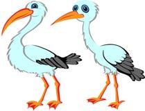 Cartoon Stork Royalty Free Stock Photography