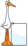 Cartoon Stork Sign Royalty Free Stock Photos