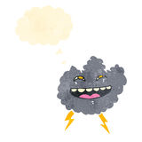 Cartoon storm cloud Royalty Free Stock Photography