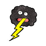 Cartoon storm cloud Stock Images