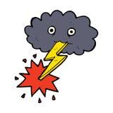 cartoon storm cloud Stock Images