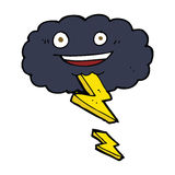 cartoon storm cloud Stock Photography