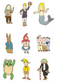 Cartoon story people. Vector drawing Royalty Free Stock Photography