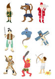Cartoon story people icon. Vector drawing Royalty Free Stock Photography