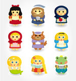 Cartoon story people icon set. Drawing Stock Images
