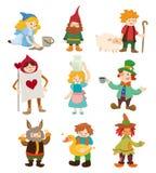 Cartoon story people icons Royalty Free Stock Image