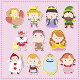 Cartoon story people icons Royalty Free Stock Photography